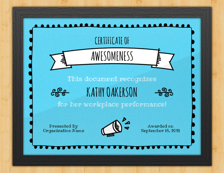 Unrivaled - Certificate of Awesomeness