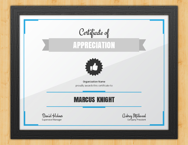 Committed - Certificate of Appreciation for Employees