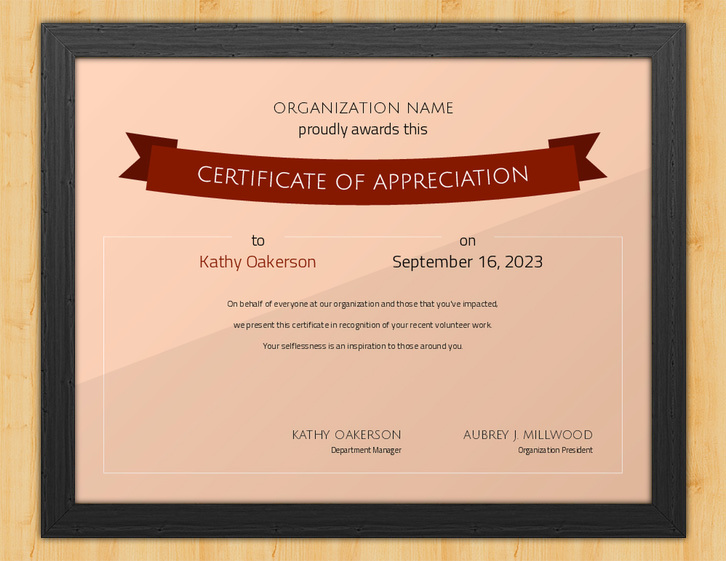 Forever Grateful - Certificate of Appreciation for Volunteers