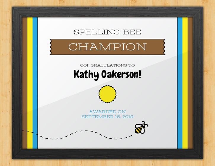 Wordsmith - Spelling Bee Certificate