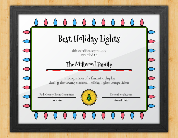 Luminous - Holiday Lights Certificate