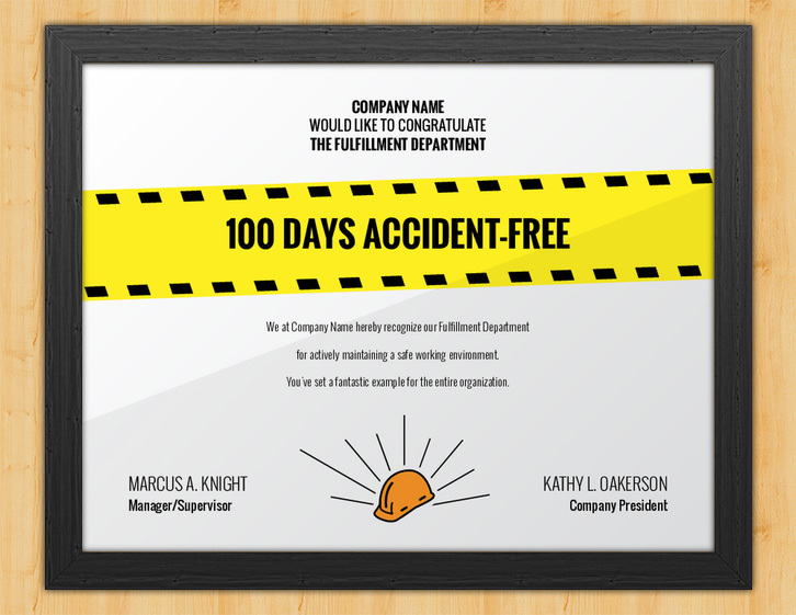 Hard Hat Heroes - Accident Avoidance Certificate